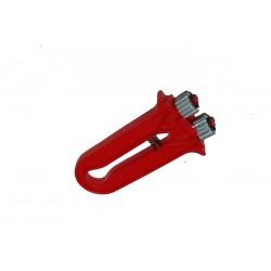Roulette zig-zag plastique