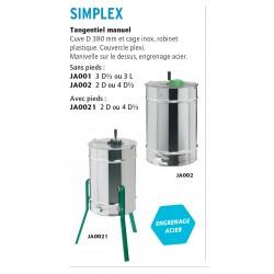 Extracteur medium d-6-3 tangentiel cage plastique / inox