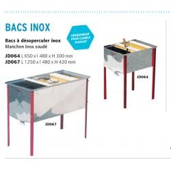 Bac inox 1250 x 480 x 420