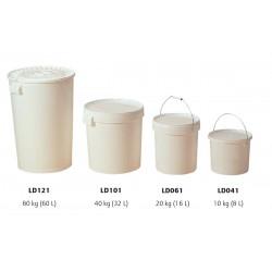 Seau plastique 5 kg blanc sans couvercle pal 960