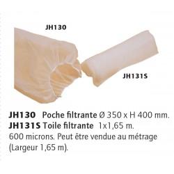 Toile filtrante la piece de 1x1.65 m 600 micron