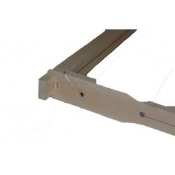 Cadre hoffmann dadant hausse longueur langstroth fil verticaux